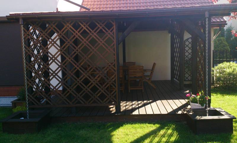 Pergola taras great tarasola decor tarasola taras decor with
